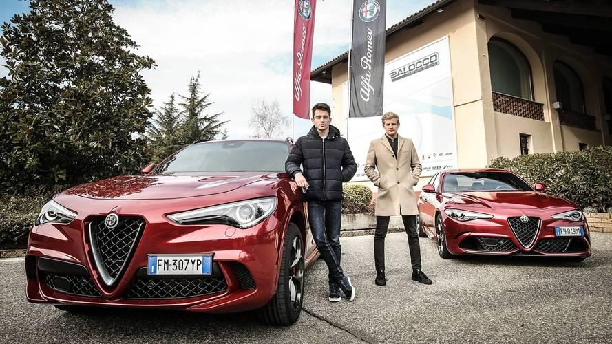 Charles Leclerc s'amuse en Alfa Romeo Stelvio Quadrifoglio !