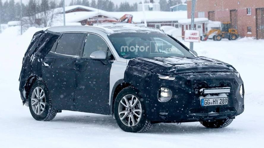2019 Hyundai Santa Fe Spied Getting A Snow Workout