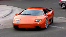 Lamborghini Diablo leaving Concorso Italiano