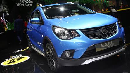 Opel Karl Rocks rolls out for debut in Paris