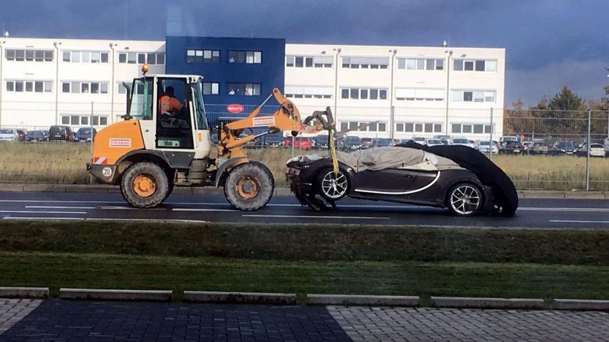 La première Bugatti Chiron accidentée en photo !