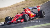 Kimi Raikkonen, Ferrari with 2017 Pirelli tires