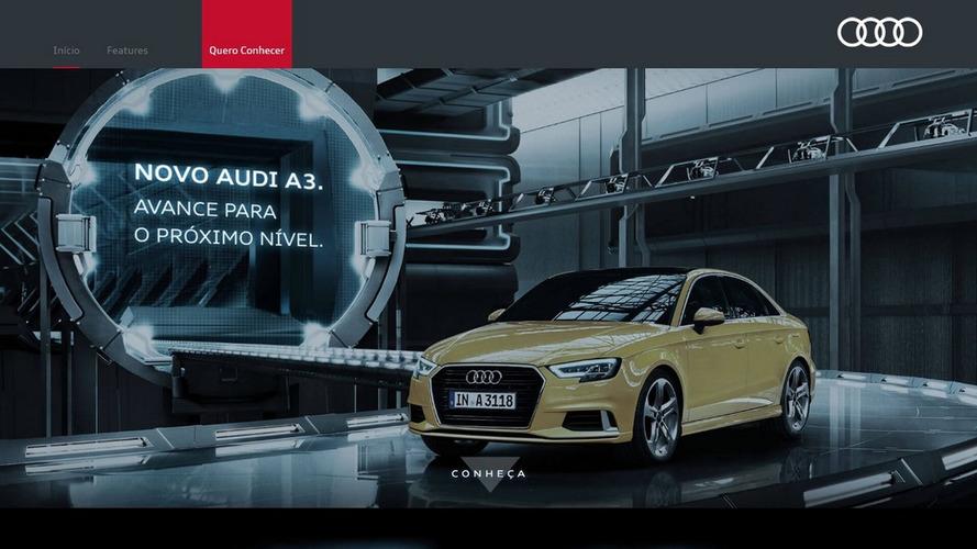 Audi A3 reestilizado aparece no site brasileiro