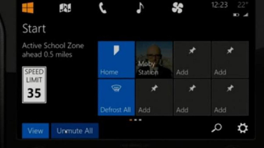 Microsoft shows off their Windows in the Car infotainment system [video]