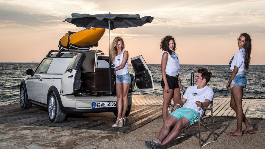 MINI shows Clubvan Camper, Cowley and Countryman ALL4 Camp summer getaway cars