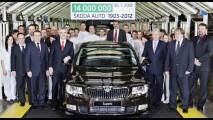Skoda comemora produção de 14 milhões de unidades
