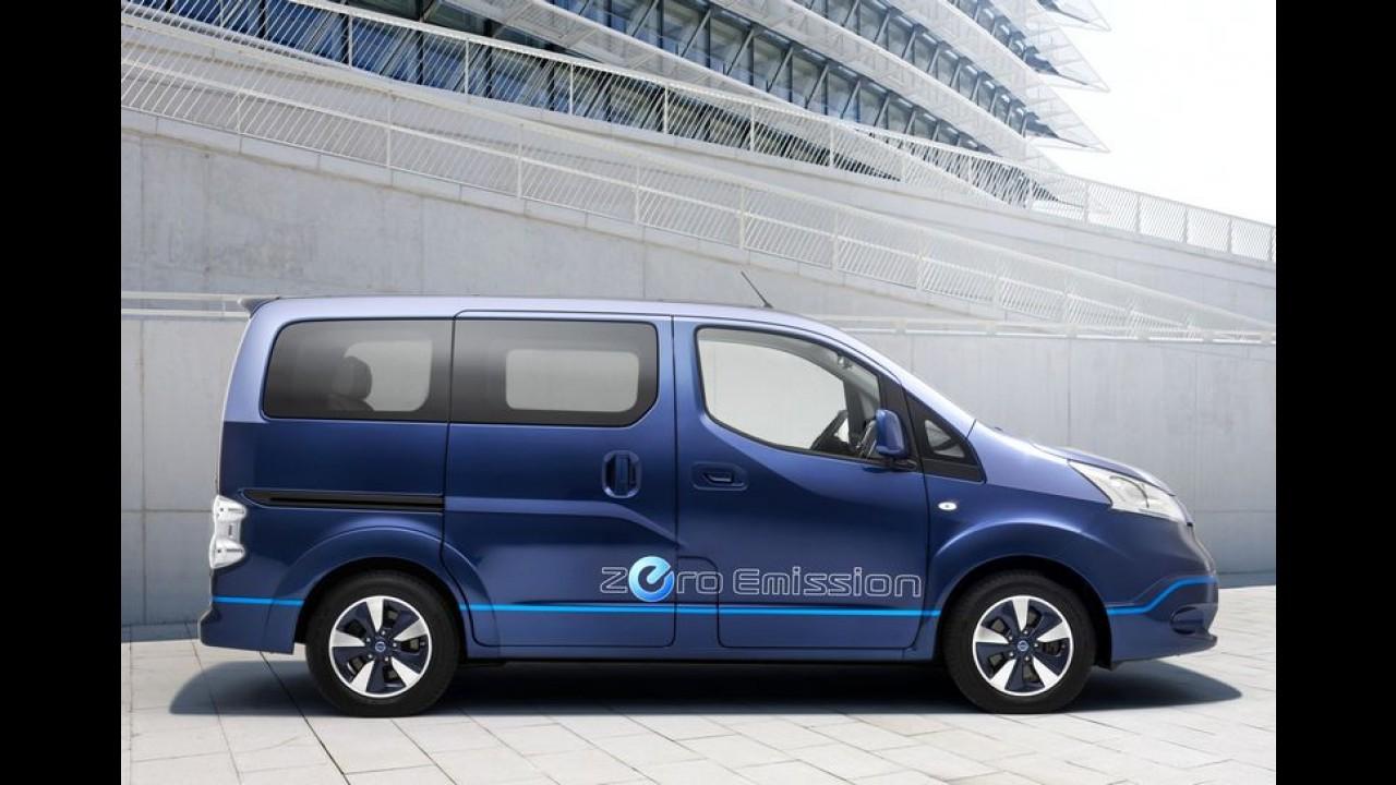 """Nissan e-NV200 VIP, utilitário 100% elétrico, possui até monitor de 21"""""""