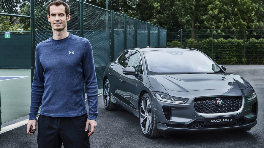 El tenista Andy Murray ya conduce su flamante Jaguar I-PACE