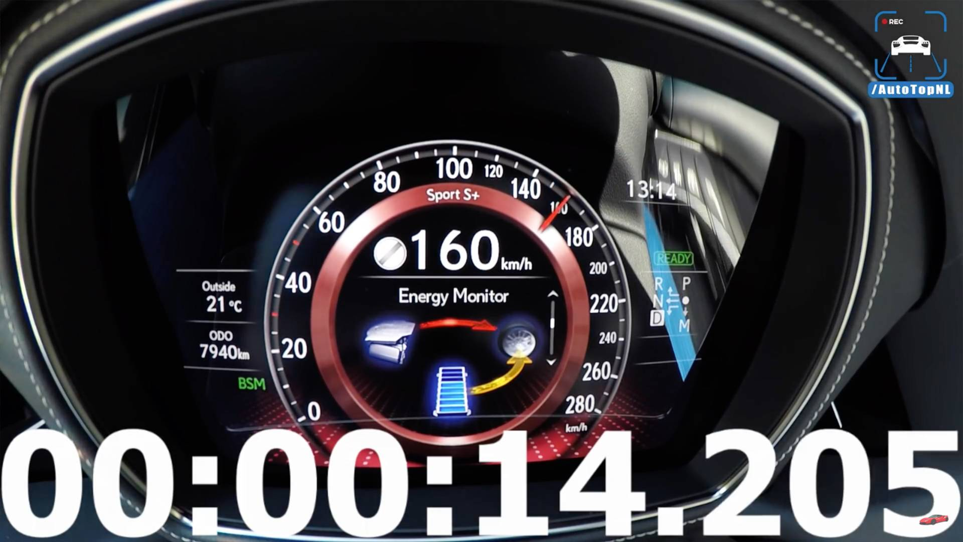 How Much Time Does The Lexus LS 500h Need To Hit 157 MPH?