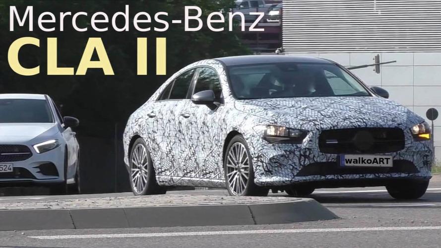 New Mercedes CLA screenshots from spy video