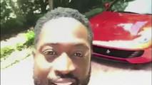 Dwayne Wade Teaches His Son How To Drive A Ferrari