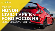 Civic Type R vs Ford Focus RS exclusive video