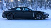 Porsche Mission E Winter Spy Shots