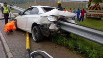 BMW 335i rear ended in Johannesburg