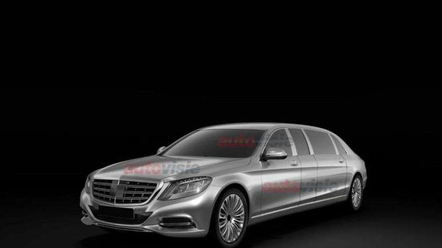 Mercedes-Benz S-Class Pullman leaked in patent drawings