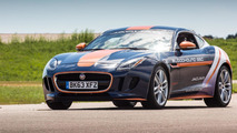 Jaguar F-TYPE R Coupe Bloodhound SSC parachute test