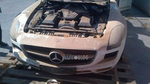 Water damaged Mercedes-Benz SLS AMG