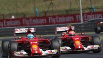 Fernando Alonso (ESP) leads team mate Kimi Raikkonen (FIN), 25.07.2014, Hungarian Grand Prix, Budapest / XPB