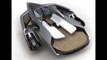 Studio di trimarano ibrido Audi