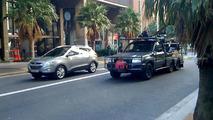 Hyundai Tucson ix35 spied filming TV commercial in Sydney
