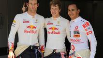 Mark Webber (AUS), Red Bull Racing, Sebastian Vettel (GER), Red Bull Racing, Lewis Hamilton (GBR), McLaren Mercedes, European Grand Prix, Saturday Qualifying, 26.06.2010 Valencia, Spain