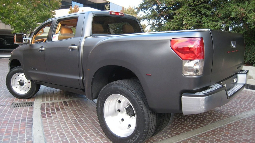 toyota tundra diesel dually project truck at sema 2008. Black Bedroom Furniture Sets. Home Design Ideas