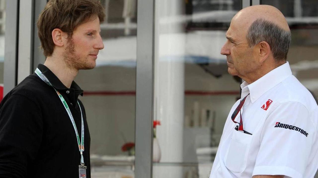 Romain Grosjean (FRA), Peter Sauber (SUI), BMW Sauber F1 Team, Team Principal, Spanish Grand Prix, 08.05.2010 Barcelona, Spain