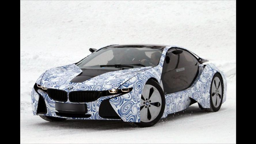 BMW-i8-Erlkönigfotos, frisch vom Polarkreis
