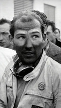 Moss after victory, Mille Miglia, May 1955