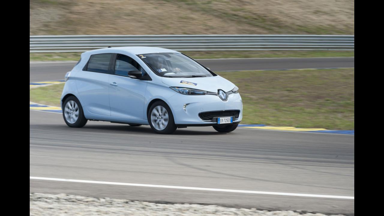 Renault ZOE sull'Autodromo di Modena per la prima Press ecoRace