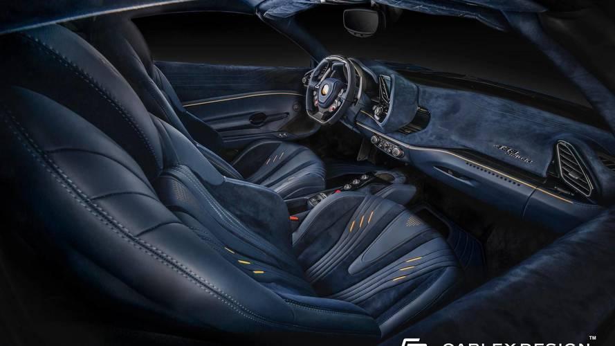 Ferrari 488 Spider Bathed In Leather, Alcantara By Carlex Design