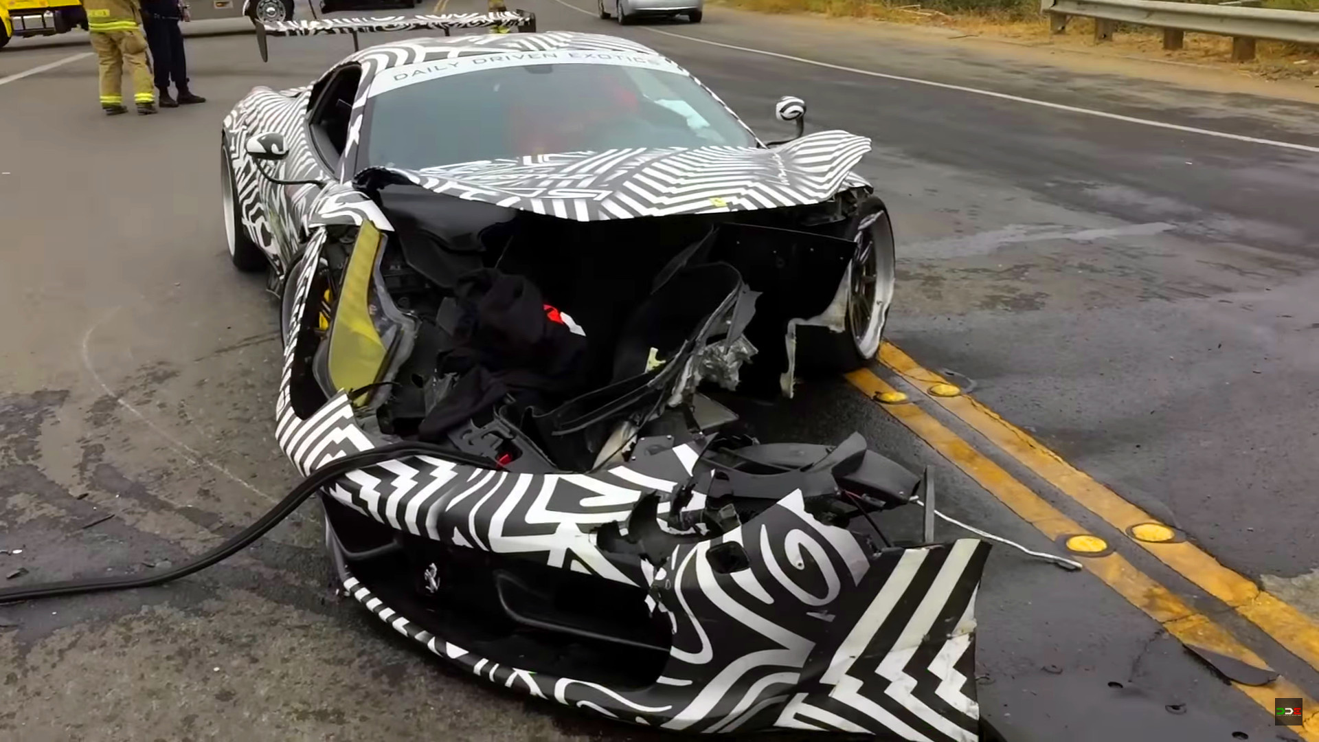 Tuned Ferrari Crashes During Monterey Car Week