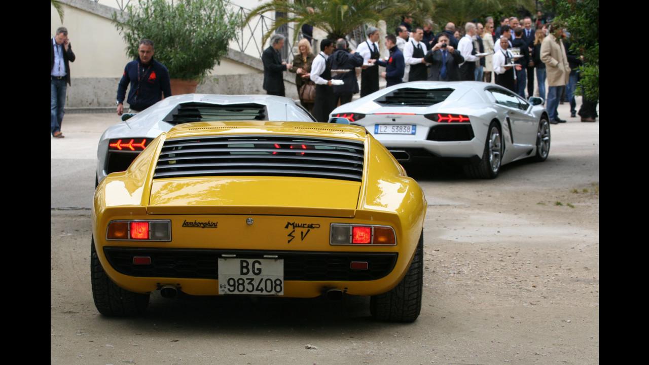 Lamborghini Aventador: parata a Roma