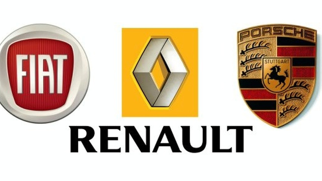 Fiat Renault Porsche logos