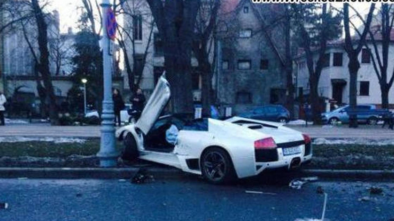 Lamborghini Murcielago crashed in Romania