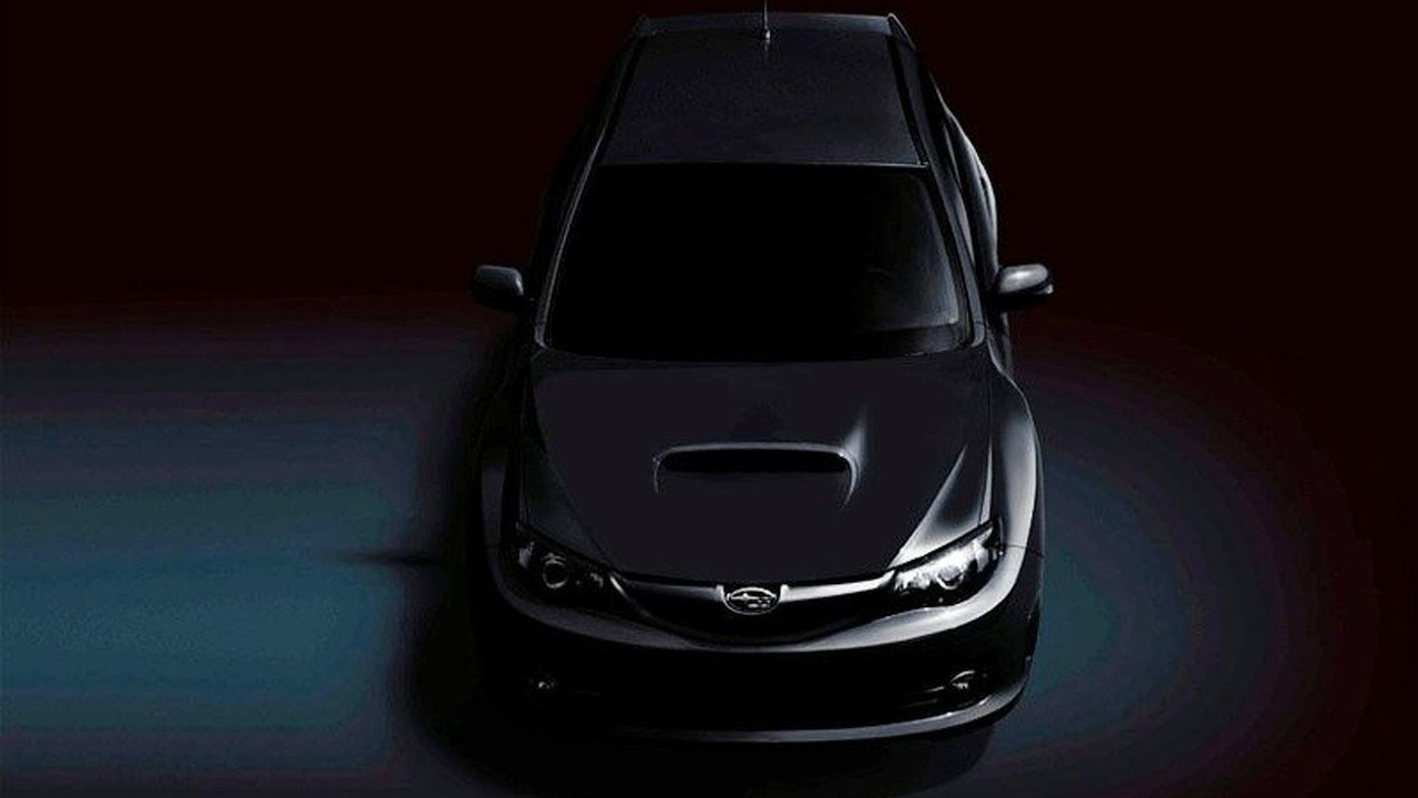 Subaru WRX STi first official teaser image