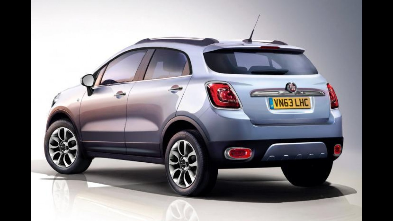 Fiat 500X será mostrado no dia 4 de julho; logotipo oficial é revelado