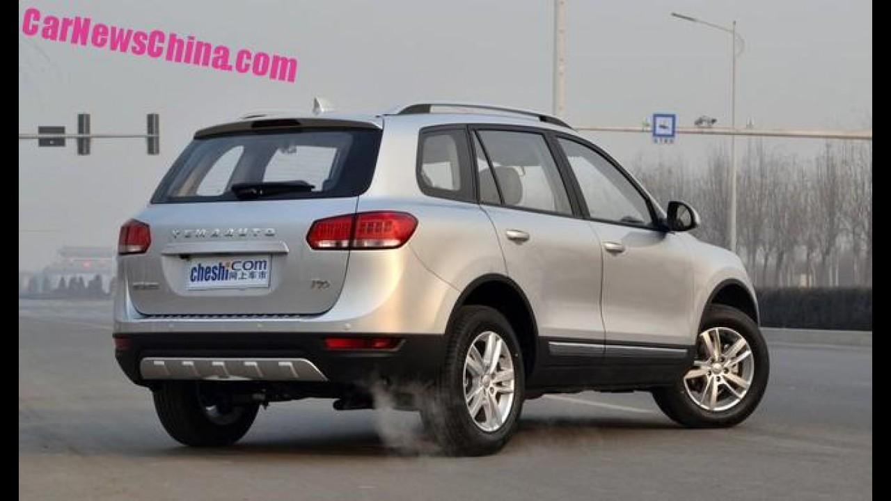 """""""Touareg"""" com detalhes de Land Rover e Audi: este é o chinês Yema T70"""
