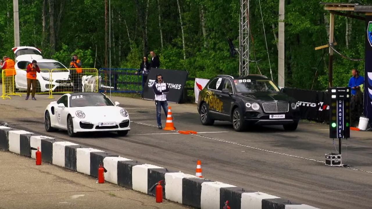 Bentley Bentayga doing a 1/4 mile run