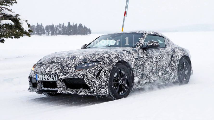 Toyota Supra Spied Without The Extra Layers Of Disguise