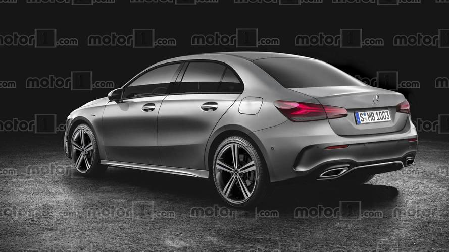 mercedes a class sedan render should be close to the actual car. Black Bedroom Furniture Sets. Home Design Ideas
