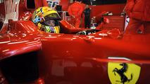 Valentino Rossi testando a Ferrari F2008