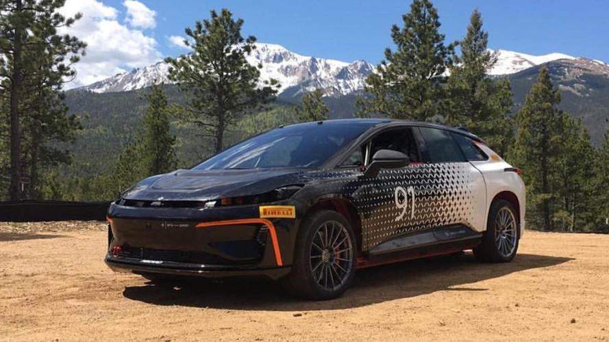 Faraday Future FF 91 Claims Pikes Peak 'Production' EV Record
