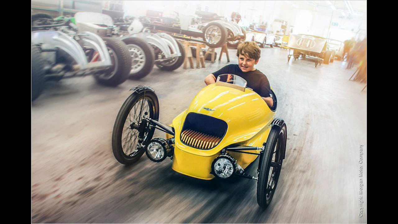 Elektrischer Mini-Morgan Threewheeler