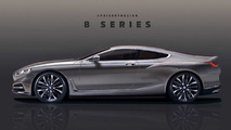 BMW 8 Series, M8 renders based on official teaser image