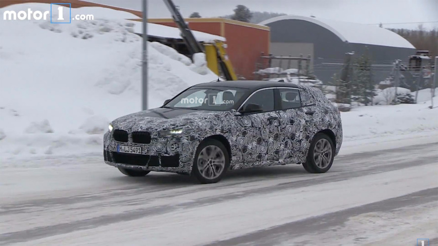 BMW spied on video giving the X2 a winter workout
