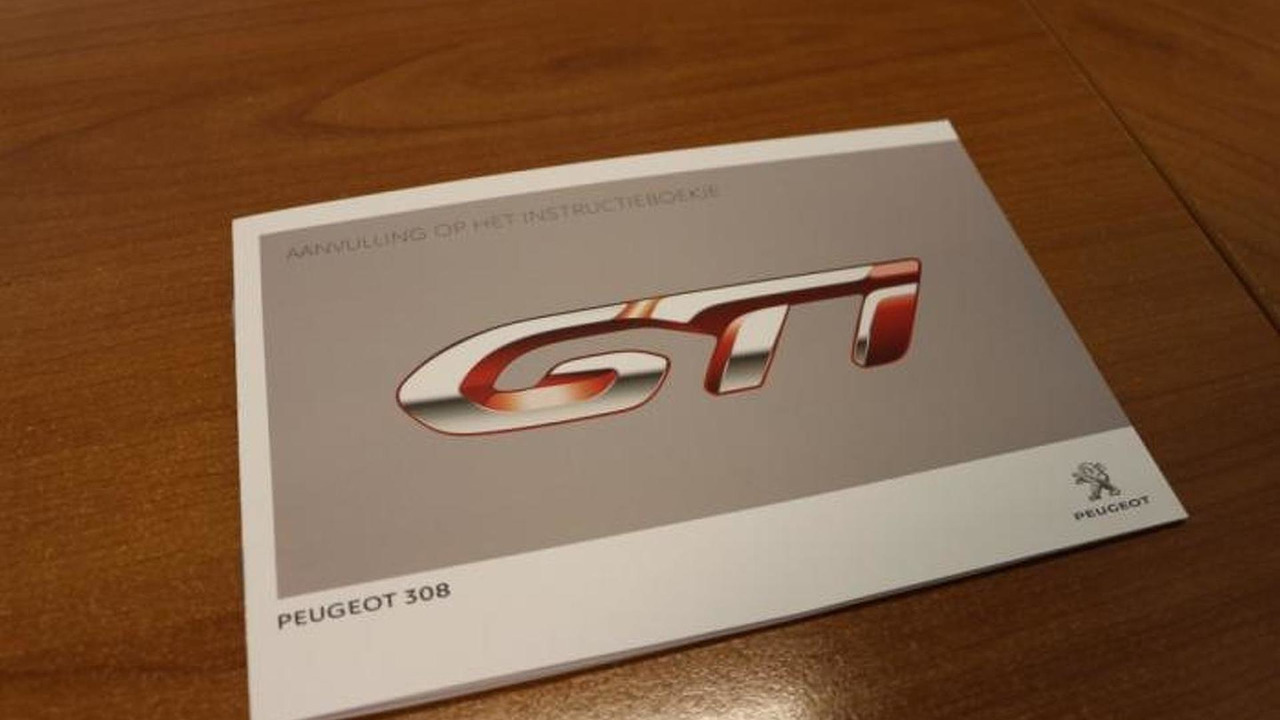 Peugeot 308 GTi instruction book