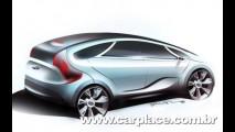 Hyundai divulga esboço da Minivan HED-5 Concept que estará em Genebra