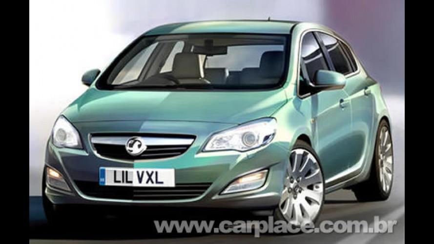 Novo Astra 2010 - Revista divulga imagens do novo modelo europeu