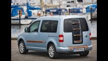 Volkswagen revela conceito Caddy Topos Sail com teto para banho de sol